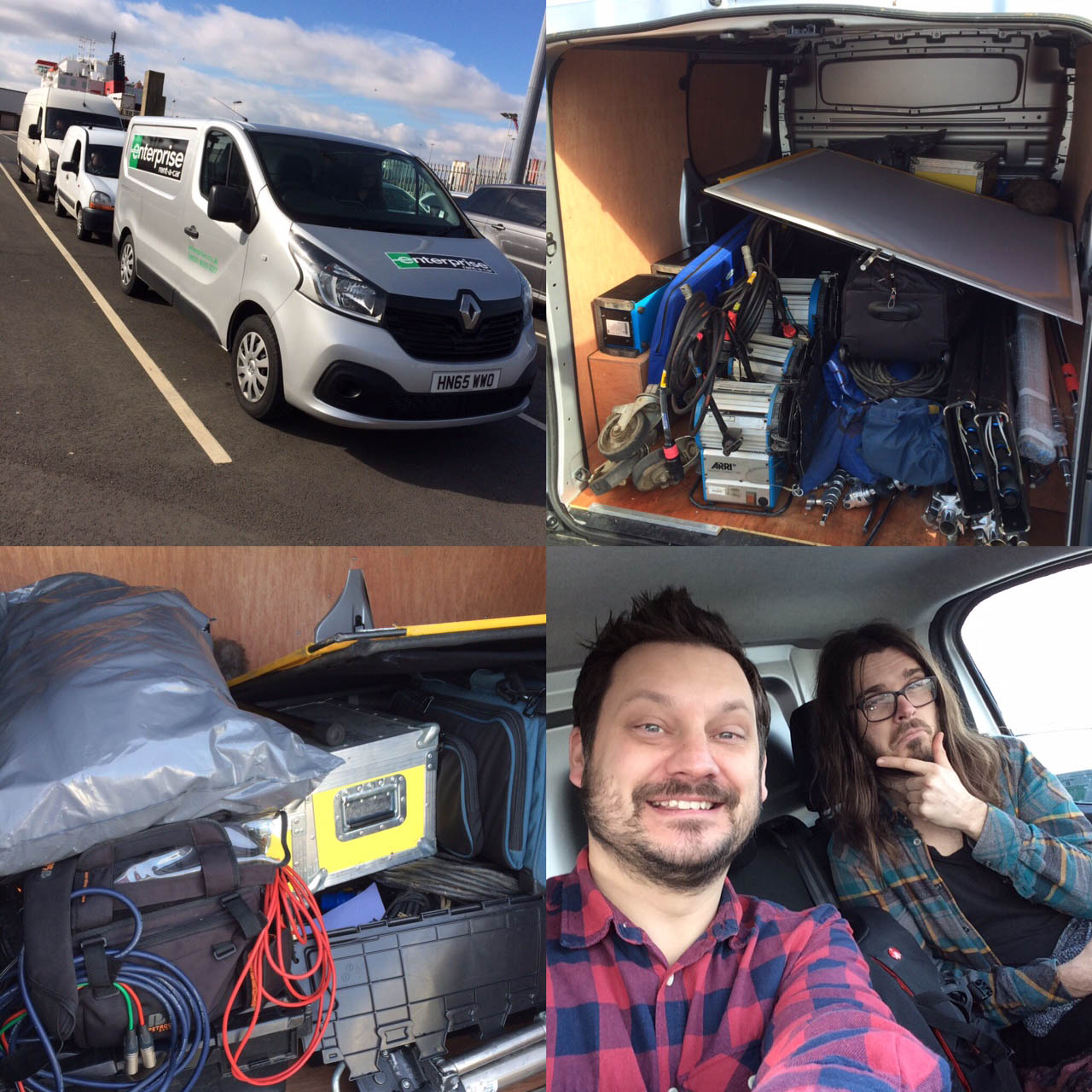 Van hired to transport all of the camera, grip and lighting gear
